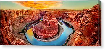 Colorado River Canvas Print featuring the photograph Red Planet Panorama by Az Jackson