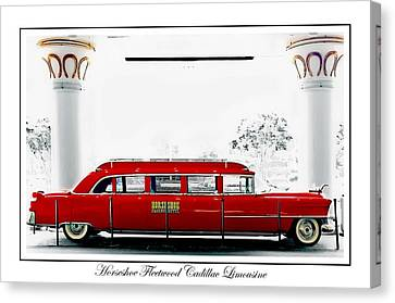Horseshoe Fleetwood Cadillac Limousine Canvas Print by Barbara Chichester