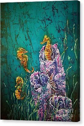 Horsin Around Canvas Print by Sue Duda
