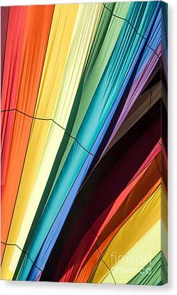 Hot Air Balloon Rainbow Canvas Print by Edward Fielding