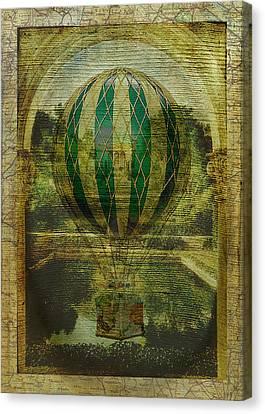 Hot Air Balloon Voyage Canvas Print by Sarah Vernon