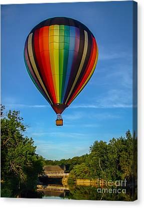 Hot Air Balloon Woodstock Vermont Canvas Print by Edward Fielding