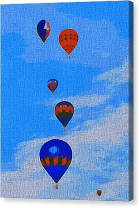 Hot Air Balloons Pop Art Canvas Print by Dan Sproul
