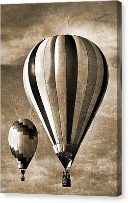 Hot Air Balloons Vintage Canvas Print by Dan Sproul