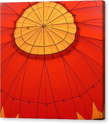 Hot Air Balloon At Dawn Canvas Print by Art Block Collections