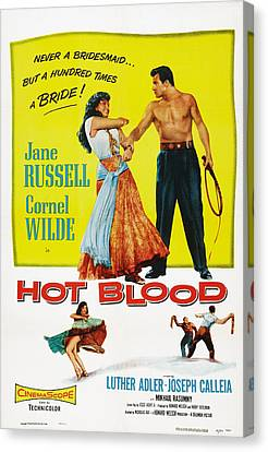Hot Blood, Top L-r Jane Russell, Cornel Canvas Print by Everett