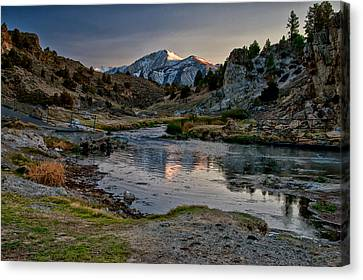 Hot Creek Canvas Print by Cat Connor