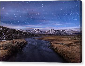 Hot Creek Star Trails Canvas Print by Cat Connor