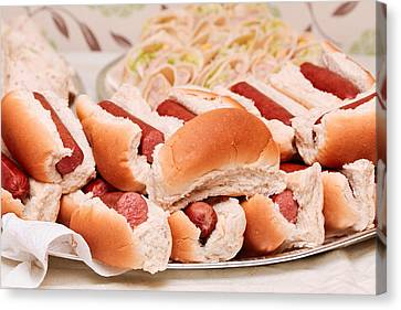 Hot Dogs Canvas Print by Tom Gowanlock