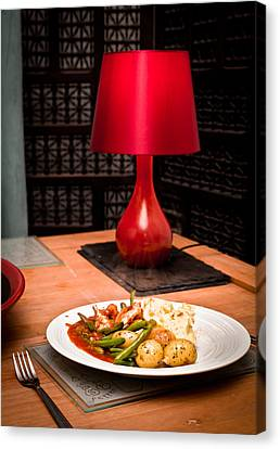 Hot Meal Canvas Print by Tom Gowanlock