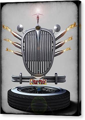 Hot Rod Crest Canvas Print by Frederico Borges