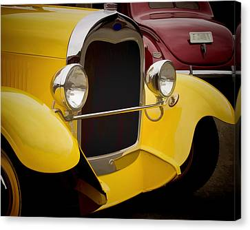 Hot Rod Fords Canvas Print by Ron Roberts
