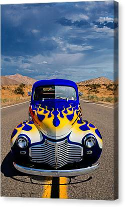 Hot Rod To Hell Canvas Print by Peter Tellone