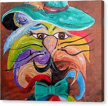 Hot Stuff - One Cool Cat   Canvas Print by Eloise Schneider