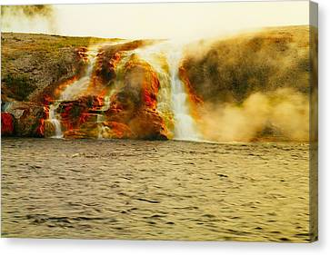 Hot Water Pouring Canvas Print by Jeff Swan