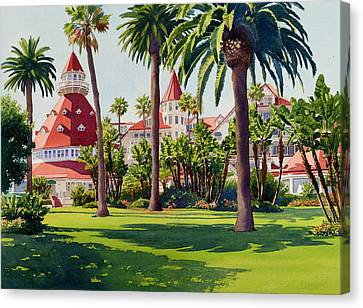 Hotel Del Coronado Canvas Print by Mary Helmreich