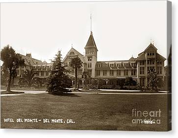 Hotel Del Monte Monterey Calif. Circa 1910 G. Besaw Photo Canvas Print by California Views Mr Pat Hathaway Archives