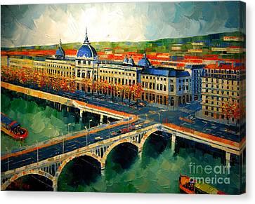 Hotel Dieu De Lyon II Canvas Print by Mona Edulesco