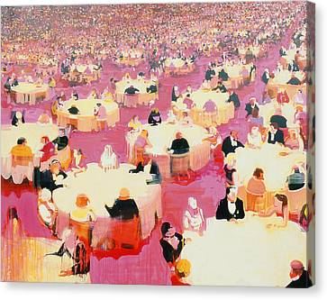 Hotel Dining Room Canvas Print by Susie Hamilton
