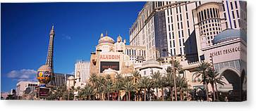 Hotel In A City, Aladdin Resort And Canvas Print by Panoramic Images