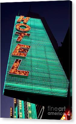 Hotel Lights Canvas Print by John Rizzuto