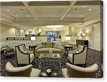 Hotel Lobby  Canvas Print by M Cohen