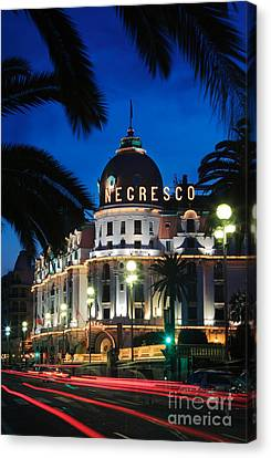 Hotel Negresco Canvas Print by Inge Johnsson