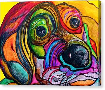 Hound Dog Canvas Print by Eloise Schneider