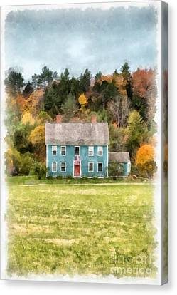 House By The Woods Canvas Print by Edward Fielding