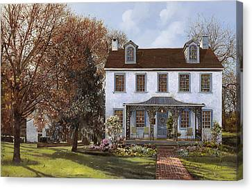 house Du Portail  Canvas Print by Guido Borelli