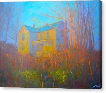 House In Blacksburg Canvas Print by Kendall Kessler
