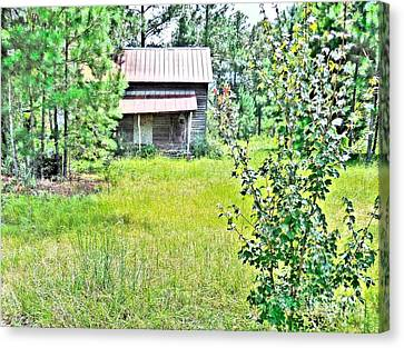 House In The Thicket Canvas Print by Eloise Schneider