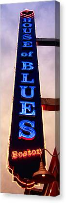 House Of Blues Panoramic Canvas Print by Joann Vitali