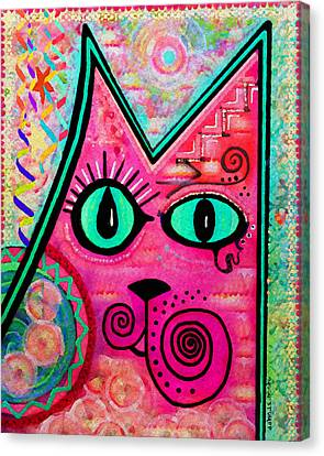 House Of Cats Series - Catty Canvas Print by Moon Stumpp