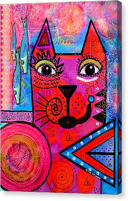 House Of Cats Series - Tally Canvas Print by Moon Stumpp