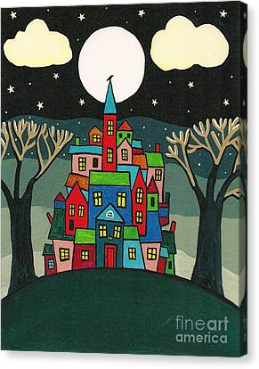 House Of The Crow Canvas Print by Margaryta Yermolayeva