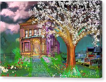 House On Milbert Street Canvas Print by Gerry Robins
