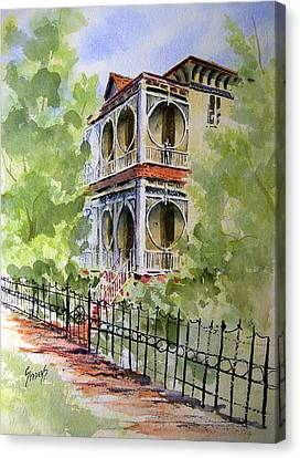 House On Spring Street Canvas Print by Sam Sidders
