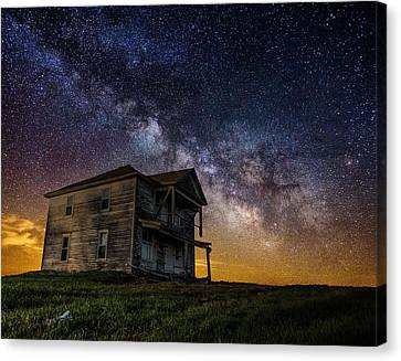 House On The Hill Canvas Print by Aaron J Groen
