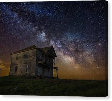 House On The Hill   Remastered Canvas Print by Aaron J Groen