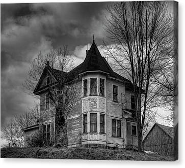 House On The Hill Canvas Print by Thomas Young
