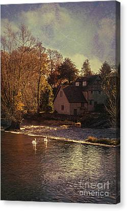 House On The River Canvas Print by Amanda Elwell