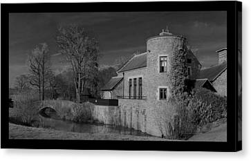 House On The River Canvas Print by Maj Seda