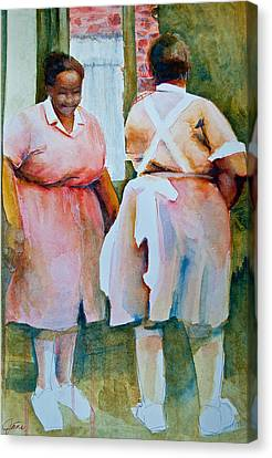 Housekeepers Of Soniat House Canvas Print by Jani Freimann