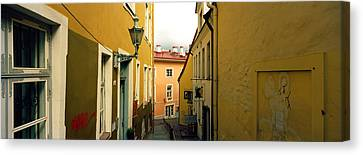 Houses Along A Street, Toompea Hill Canvas Print by Panoramic Images