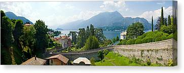 Houses In A Town, Villa Melzi, Lake Canvas Print by Panoramic Images