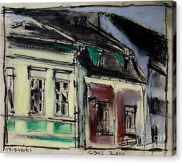 Houses In Transylvania 2 Canvas Print by Mona Edulesco
