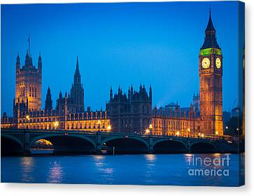 Houses Of Parliament Canvas Print by Inge Johnsson
