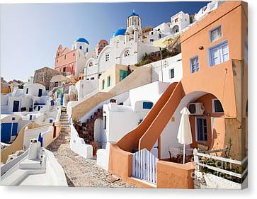 Housing Of Santorini Canvas Print by Aiolos Greek Collections