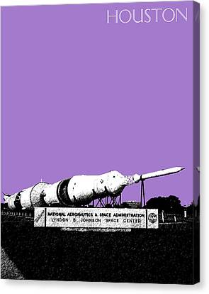 Houston Johnson Space Center - Violet Canvas Print by DB Artist